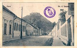 ROMANIA : DEVA / HUNEDOARA : STRADA ANDREI SAGUNA - ANNÉE / YEAR ~ 1940 - ' 945 (ac217) - Roemenië