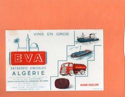 BUVARD. MARCQ-EN-BAROEUL (NORD). EVA VIN D' ALGERIE Achat Immédiat - Buvards, Protège-cahiers Illustrés