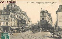 PARIS RUE DU FAUBOURG SAINT-ANTOINE ET RUE DE CHARENTON 75 - Arrondissement: 12
