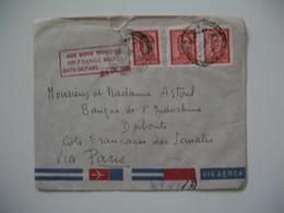 """Enveloppe Argentine 1966 Pour Paris Avec Un Cachet """" Aux Bons Soins De Air France Merci   Date De Départ :      """" - Lettres & Documents"""