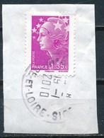 France - Marianne De Beaujard 1,35 - YT 4345 Obl Cachet Rond Sur Fragment - 2008-13 Marianne De Beaujard