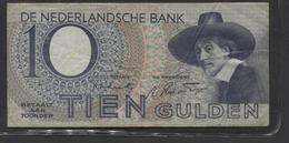 Netherlands 10 Gulden 4-1-1943 -22-4-1944 , No 3 BD 068178 - 01-11-1943, - See The 2 Scans For Condition.(Originalscan ) - [2] 1815-… : Koninkrijk Der Verenigde Nederlanden