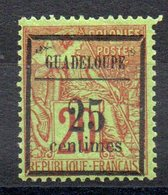 GUADELOUPE - YT N° 5 - Neuf * - MH - Cote: 37,00 € - Unused Stamps