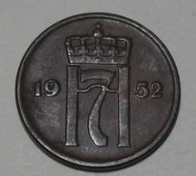 1952 - Norvège - Norway - 2 ORE, HAAKON VII, KM 399 - Norway
