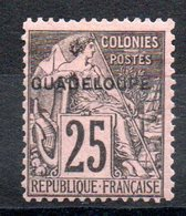GUADELOUPE - YT N° 21 Signé - Neuf * - MH - Cote: 53,00 € - Unused Stamps