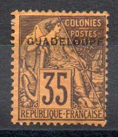 GUADELOUPE - YT N° 23 Signé - Neuf * - MH - Cote: 110,00 € - Unused Stamps