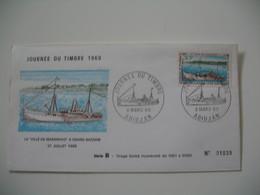 Enveloppe Journée Du Timbre 1969 Abidjan - La Ville De Maranhao' A Grand-Bassam Série B - N° 01039 - Costa D'Avorio (1960-...)
