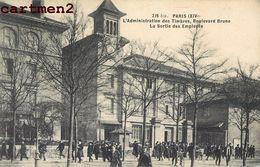 PARIS BOULEVARD BRUNE L'ADMINISTRATION DES TIMBRES SORTIE DES EMPLOYES 75 - District 14