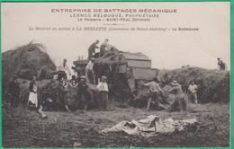 33 - Saint Androny - Battage Mécanique Belougue, La Rivalerie - Saint Paul - En Action à La Merlette - Botteleuse - France