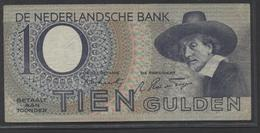 Netherlands 10 Gulden 4-1-1943 -22-4-1944 , No 1 AA 000711 - 4-1-1943  - See The 2 Scans For Condition.(Originalscan ) - [2] 1815-… : Koninkrijk Der Verenigde Nederlanden