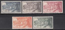 1952  Edifil Nº 1111 / 1115 MNH. - 1931-Hoy: 2ª República - ... Juan Carlos I