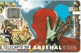 CARTE°-PUBLIC-1989-F117-50 U  -SC4-ROSTROPOVITCH-ARSENAL-NEUVE-V° N°5 Impacts 16215-LUXE - France