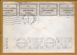 Zensierter Brief Von Frankfurt 1938 Nach Lissabon.Censored Letter From Frankfurt In 1938 To Lisbon. Hitler. - Duitsland