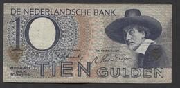 Netherlands 10 Gulden 4-1-1943 -22-4-1944 , No 1AA 043750 - 04-01-1943, - See The 2 Scans For Condition.(Originalscan ) - [2] 1815-… : Koninkrijk Der Verenigde Nederlanden