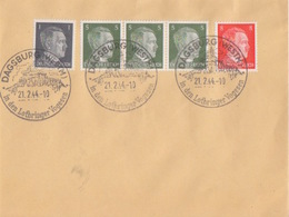 Lettre Non Circulée De Dabo (T 340 Dagsburg Westm In Den Lothringer Vogesen) TP Reich 1pf+5pfx3+8pf Le 21/2/44 - Postmark Collection (Covers)