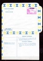 3 Aérogrammes Neufs, Congo Belge 4 Fr Surchargés KATANGA - Katanga