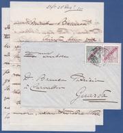 Cover + Letter - Lisboa Central To Guarda, Portugal / Cancel - Lisboa Central . 2ª Secção . Dez.1910 - Lettres & Documents