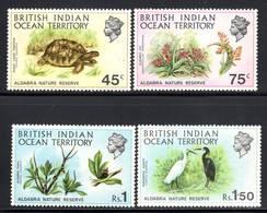 Territoire Britannique De L'Océan Indien -  N°39/42 ** - FAUNE / FLORE - Territoire Britannique De L'Océan Indien