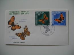 Enveloppe FDC  1976  Afars Et Issas   N° 438 Et 439  Papillons - Farfalle