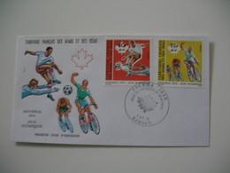 Enveloppe FDC  1976  Afars Et Issas   N° 432 Et 433 XXI Jeux Olympiques De Montréal - Sellos