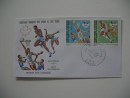 Enveloppe FDC  1976  Afars Et Issas   N° 431 Et 434 XXI Jeux Olympiques De Montréal - Sellos