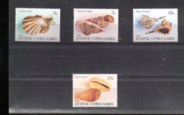 CHYPRE 653/656** SUR LA FAUNE MARINE  LES COQUILLAGES - Cipro (Repubblica)