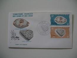 Enveloppe FDC  1976  Afars Et Issas   N° 425 Et 426 Coquillages - Coneshells