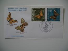 Enveloppe FDC  1976  Afars Et Issas   N° 420 Et 421 Papillons - Farfalle
