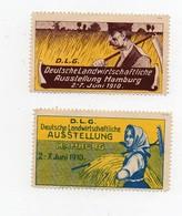 Erinnophilie Vignette Deutsche Landwirtschaftliche Ausstellung Hamburg 1910 (2 Vignettes) - Allemagne
