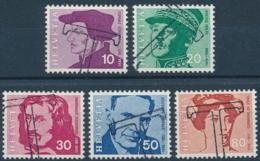 Zumstein 471-475 / Michel 906-910 Serie Mit TAX-Stempel (20 Rp. Defekt) - Suisse