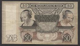 Netherlands 50 Gulden 2-1-1941 -19-3-1941 , No CK 081841 -12-03-1941 - See The 2 Scans For Condition.(Originalscan ) - [2] 1815-… : Reino De Países Bajos