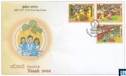 Sri Lanka Stamps 2019, Vesak, Buddha, Buddhism, FDC - Sri Lanka (Ceylon) (1948-...)