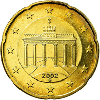 République Fédérale Allemande, 20 Euro Cent, 2002, SUP, Laiton, KM:211 - Germania