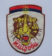 1991-1995 Bosnian War - Serbian Volunteer Guard Arkan's Tigers - Winter Uniform Sleeve Patch - Stoffabzeichen