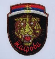 1991-1995 Bosnian War - Serbian Volunteer Guard Arkan's Tigers - Regular Seasons Uniform Sleeve Patch - Stoffabzeichen