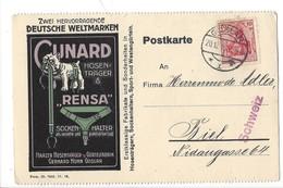 22044 - Chien Boxer Cunard Rensa Deutsche Weltmarken Gürtelfabrik Gerhard Hohn Goslar  Pour Biel 20.12.1916 - Publicité