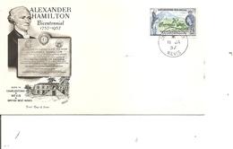 Saint-Christophe - Alexander Hamilton ( FDC De 1957 à Voir) - St.Kitts En Nevis ( 1983-...)