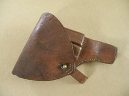Etui En Cuir Brun Pour Pistolet Browning Mle 1907 Suédois. - Equipement