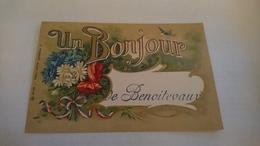 Cpa Un Bonjour De Benoitevaux - Autres Communes