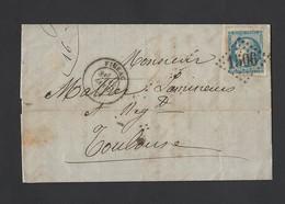 Cérès émission Bordeaux 45 B Sur Lettre Entête Banque De Figeac GC 1506 Vers Toulouse 12/1/1871 TB - Marcofilie (Brieven)
