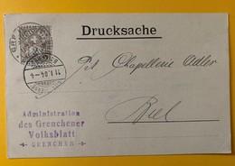 8620 - Administration Des Grenchener Volksblatt Grenchen 11.01.1904 - SO Soleure