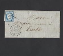Cérès N° 60 Sur Lettre De Chataeuneuf  Sur Sornin GC 4610 Vers Charolles 28/10/1874 Indice Pothion 11 - Postmark Collection (Covers)