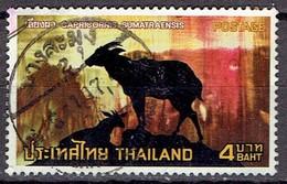 Thailand 1973 - Protected Wild Animals - 4 Bt  -Michel 705  Somchai 706 - Used - Thailand