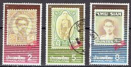 Thailand 1992 - Bangkok 93 Philatelic Show - Michel 1499+1501+1503  Somchai 14551+53+55 - Used - Thailand