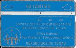 CARTE MAGNETIQUE-TCHAD-60U-BLEU-V° N° En Bas A Droite Endroit-903C19156-UTILISE-BE - Tsjaad