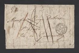 LAC De Montpellier Du 2/1/1843 Vers Ile De  Guernesey - Marcophilie (Lettres)