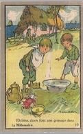 POULBOT Illustrateur Chromo Pub La'la Milanaise' Savon  Shampoing Poux  Carte N 10 - Publicités