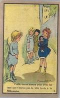 POULBOT Illustrateur Chromo Pub La'la Milanaise' Savon  Shampoing Poux  Carte N 16 - Publicités