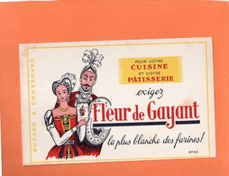 "BUVARD. DOUAI ( NORD ) FARINE "" FLEUR DE GAYANT "" GEANTS DE CARNAVAL  Achat Immédiat - Food"