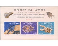 Ref. 304684 * MNH * - ECUADOR. 1966. HISTORIA DE LA AUSTRONAUTICA MUNDIAL Y CENTENARIO DE LAS TELECOMUNICACIONES - Ecuador